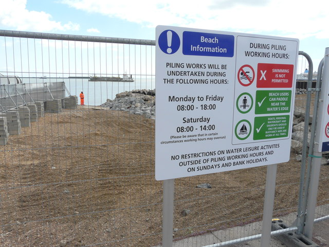 Beach information about piling works