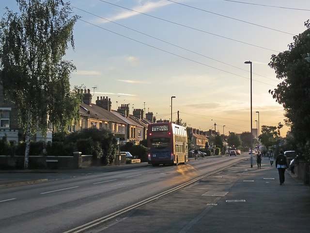 A May evening on Cherry Hinton Road