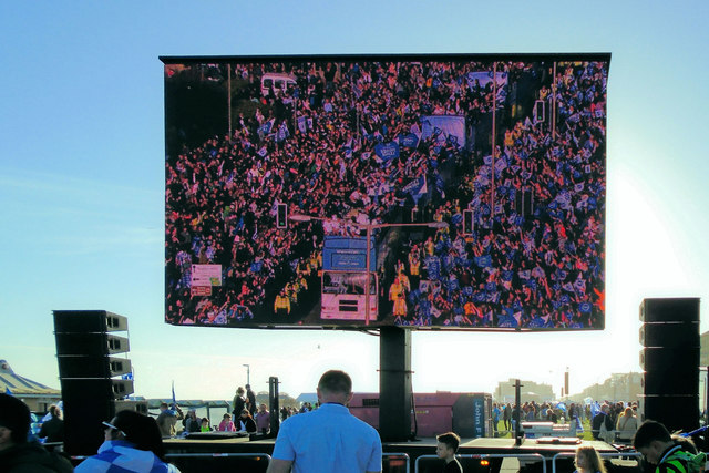 Big Screen - Brighton & Hove Albion promotion parade