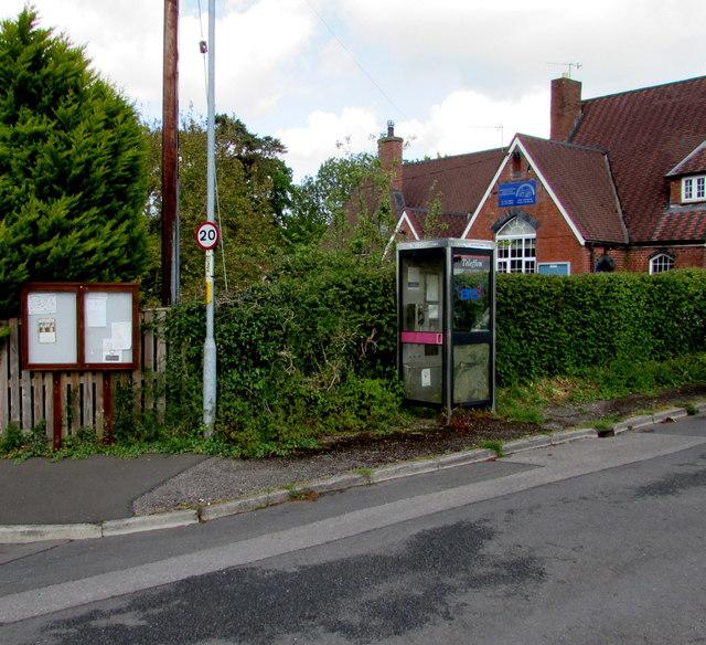 Village phonebox, Llanfair Kilgeddin, Monmouthshire