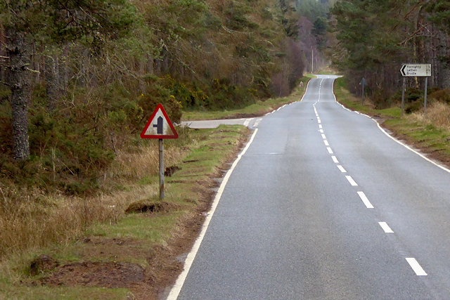 A939 Minor Road Junction, Wood of Achnatone