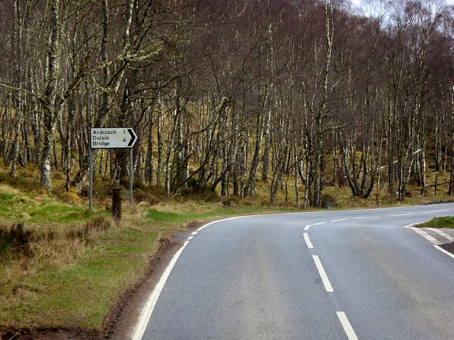 A939 near Loch Belivat