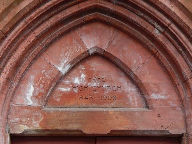 Dumbarton Free High Church: detail