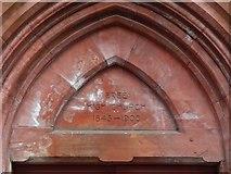 NS4075 : Dumbarton Free High Church: detail by Lairich Rig