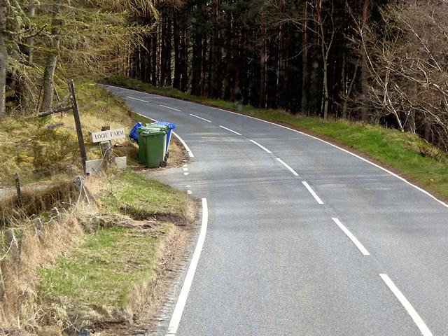 A939 near Logie Farm