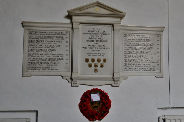 Breamore, St. Mary's Church: Great War memorial plaque