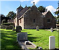 SO6026 : East side of St Michael & All Angels Church, Brampton Abbotts, Herefordshire by Jaggery