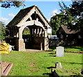 SO6026 : Churchyard side of the lychgate, Brampton Abbotts, Herefordshire by Jaggery