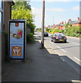 SO8405 : McDonald's advert on a BT phonebox, Cainscross Road, Stroud by Jaggery