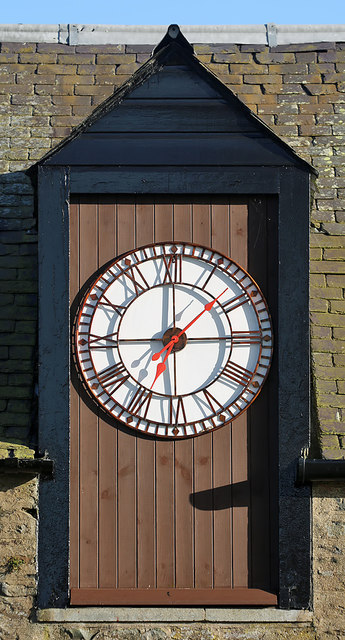 A clock at Galashiels Golf Club