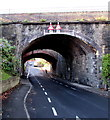 ST1368 : Two arched railway bridges over Little Moors Hill, Barry by Jaggery