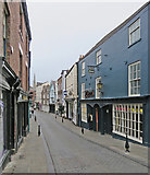 NZ2742 : Durham: a grey morning in Saddler Street by John Sutton