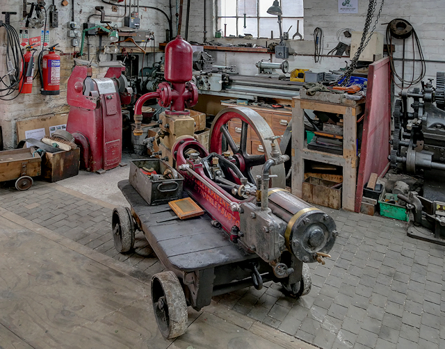 Portable Pump at Claymills Workshop