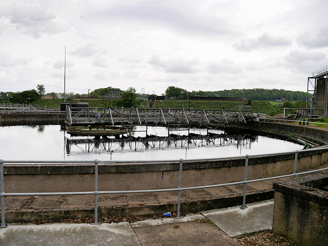 Filtration Bed, Severn Trent Water Treatment Plant at Clay Mills