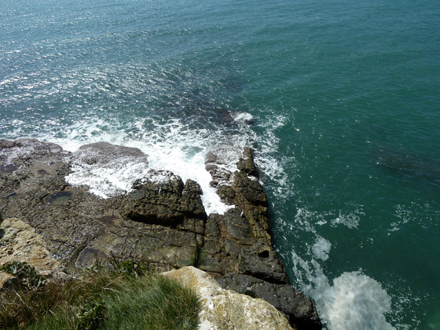 Looking down from Seacombe Quarry floor