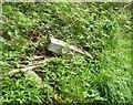 NT9141 : Unhelpful public footpath way marker by Russel Wills