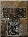 SK8997 : Memorial brass,  St John the Baptist church, Northorpe by Julian P Guffogg