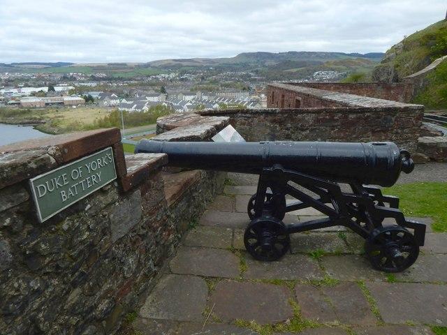 Dumbarton Castle: Duke of York's Battery
