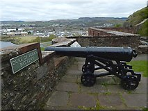 NS3974 : Dumbarton Castle: Duke of York's Battery by Lairich Rig