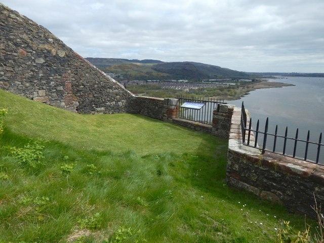 Dumbarton Castle: former site of the Castle's crane