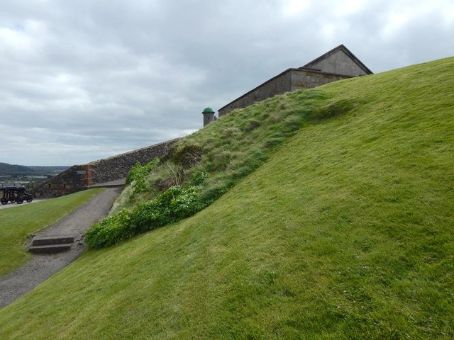 Dumbarton Castle: the former site of a spring