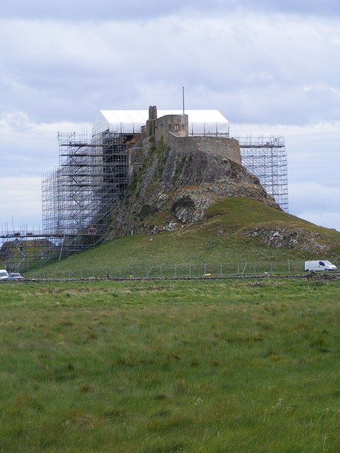 Lindisfarne Castle under a roof (2)