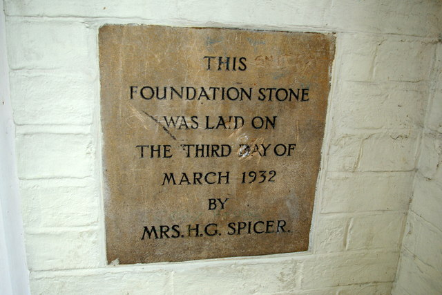 Foundation stone for the Marven Centre