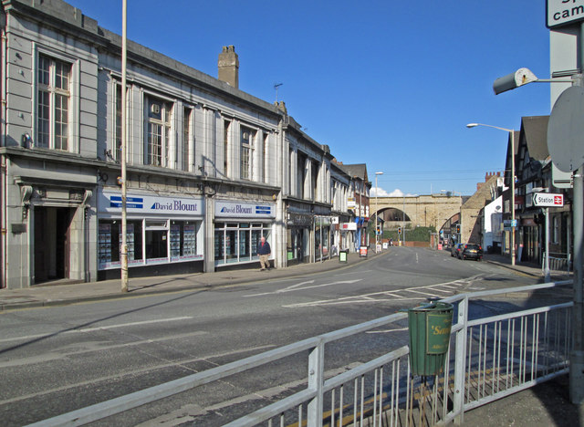 Mansfield - Albert Street - view NW from Midworth Street junction