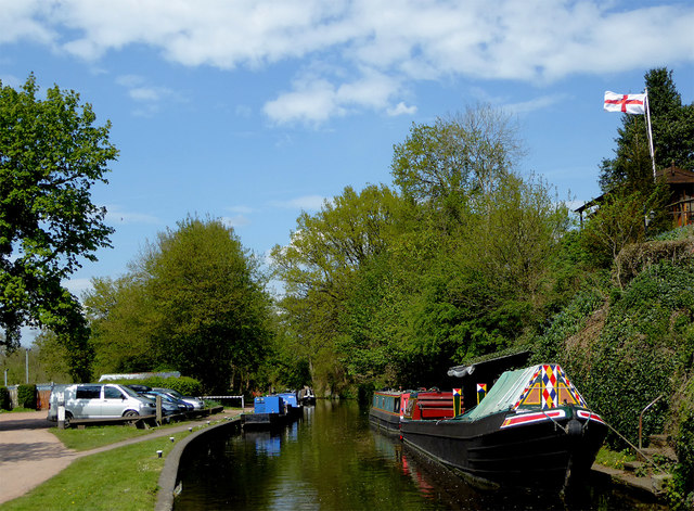 Canal at Greensforge in Staffordshire