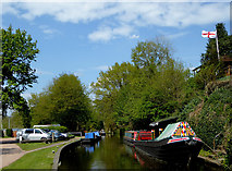 SO8688 : Canal at Greensforge in Staffordshire by Roger  Kidd
