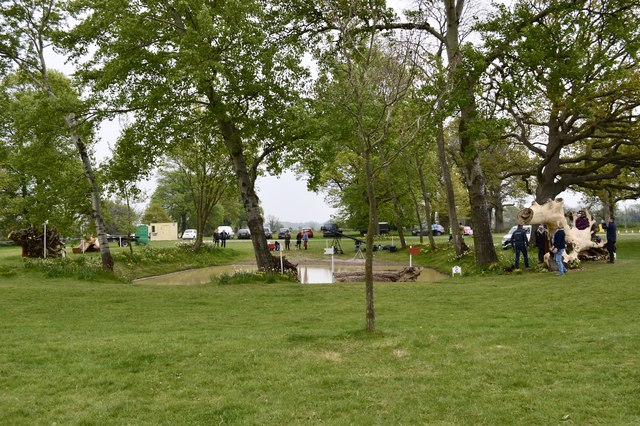 Badminton Horse Trials 2017: cross-country fence 15 - pond