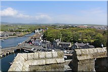 SC2667 : View from Castle Rushen towards the Silverburn and beyond by Richard Hoare