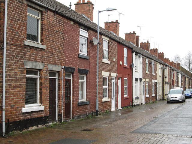 Stanton Hill - terraced housing on Institute Street