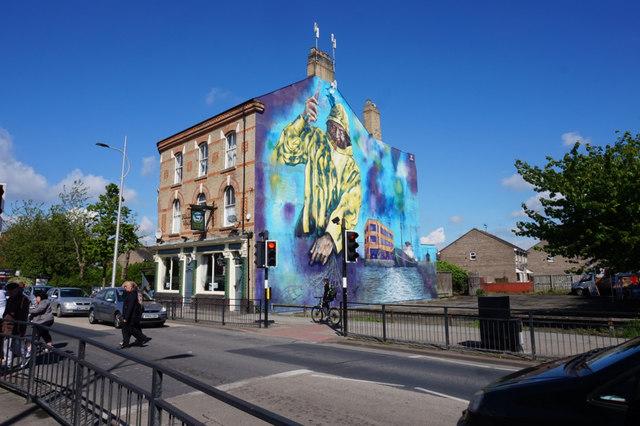 Trawlerman's mural on Hessle Road, Hull © Ian S :: Geograph