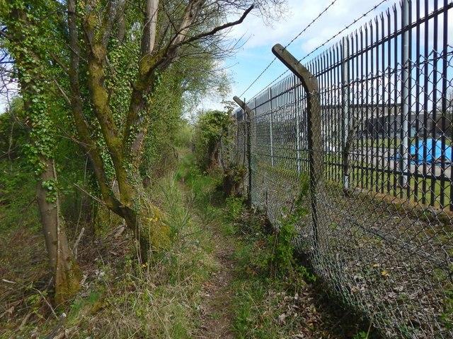 Path beside the Kilmalid works