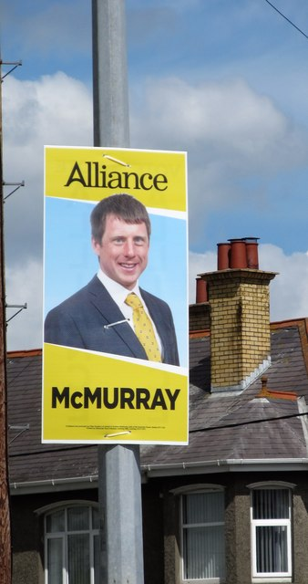 Alliance Party Westminster Election Poster on Shimna Road