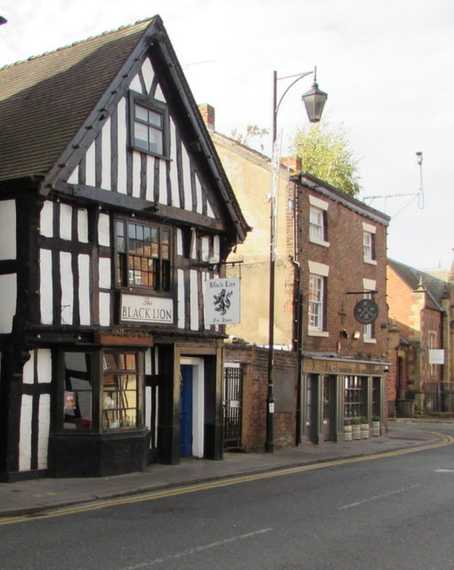 Black Lion pub in Nantwich