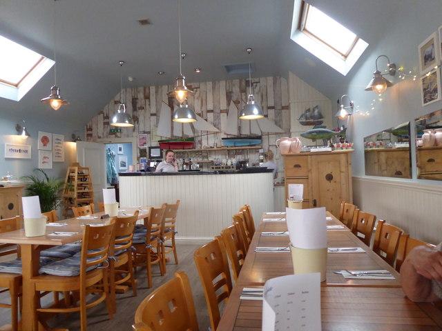 'Quayside' fish restaurant, Gourdon