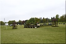 ST8182 : Badminton Horse Trials 2017: cross-country fence 17 - Mirage Pond by Jonathan Hutchins