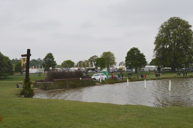 Badminton Horse Trials 2017: cross-country fence 22 - Wadworth Lakeside