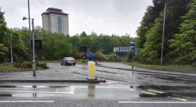 The M8 motorway at Arkleston