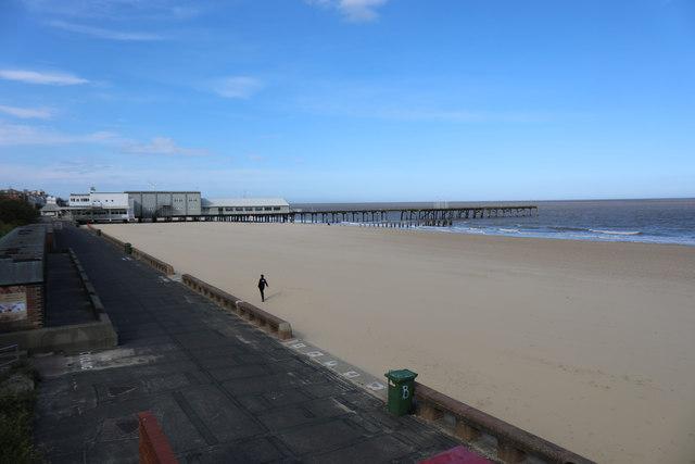 Lowestoft's South Beach - deserted