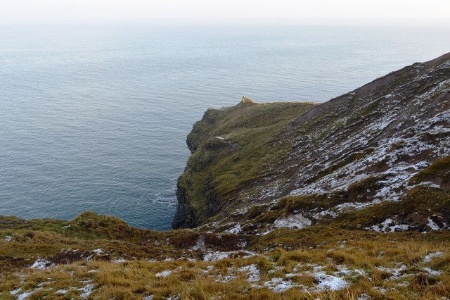 The northern cliffs of Filey Brigg