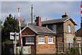 TA1062 : Signal box and Station House, Station Road, Burton Agnes by Jo Turner