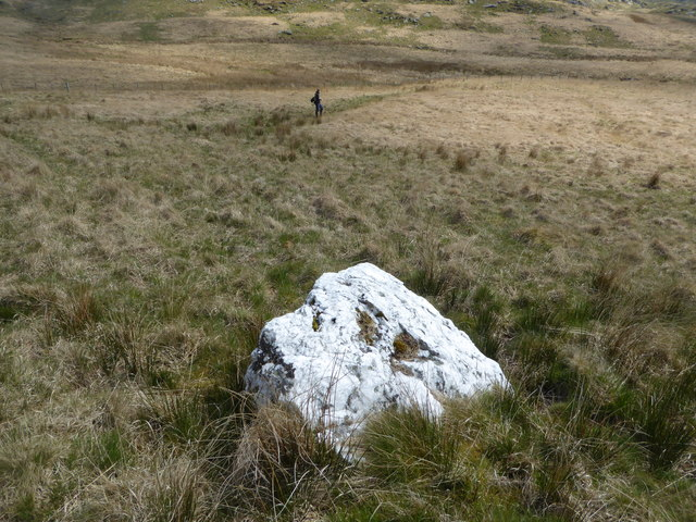 One of Owain Glyndwr's Covenant Stones in the valley of the Hyddgen