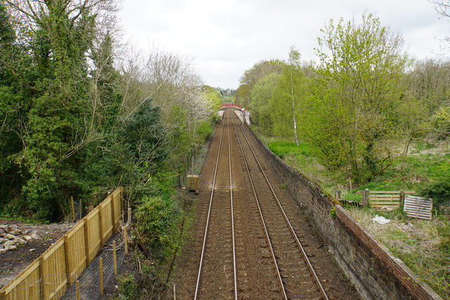 Railway approaching Riding Mill Station