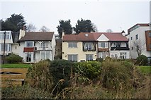 TQ8485 : Houses by the railway by N Chadwick