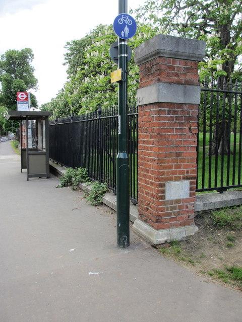 Barracks Gate pillar and boundary stone