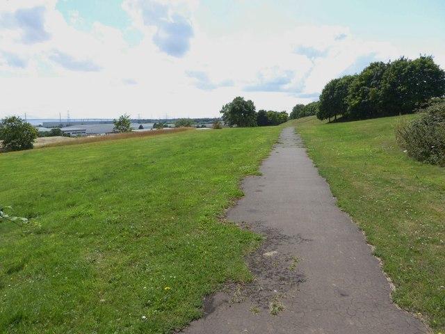The Wales Coast Path near Mathern Industrial Park