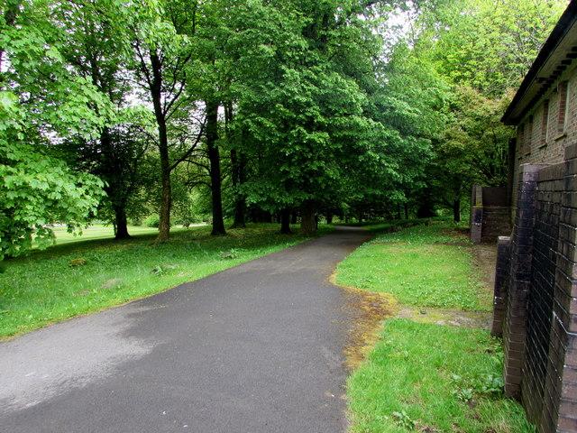 Path through the western edge of Bedwellty Park, Tredegar